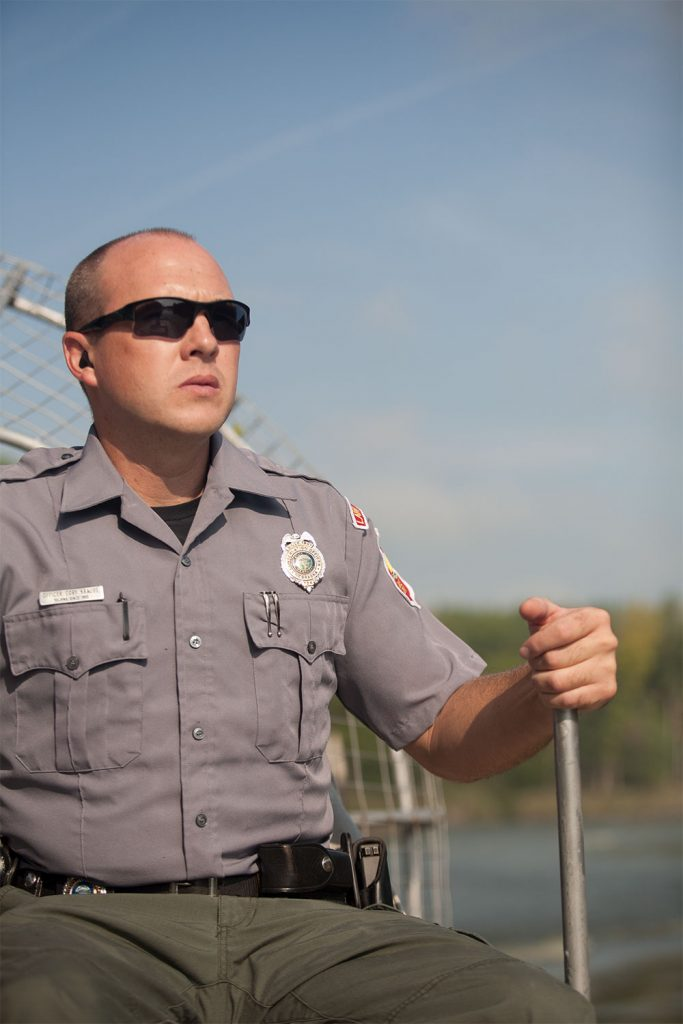 Conservation officer Cory Krause